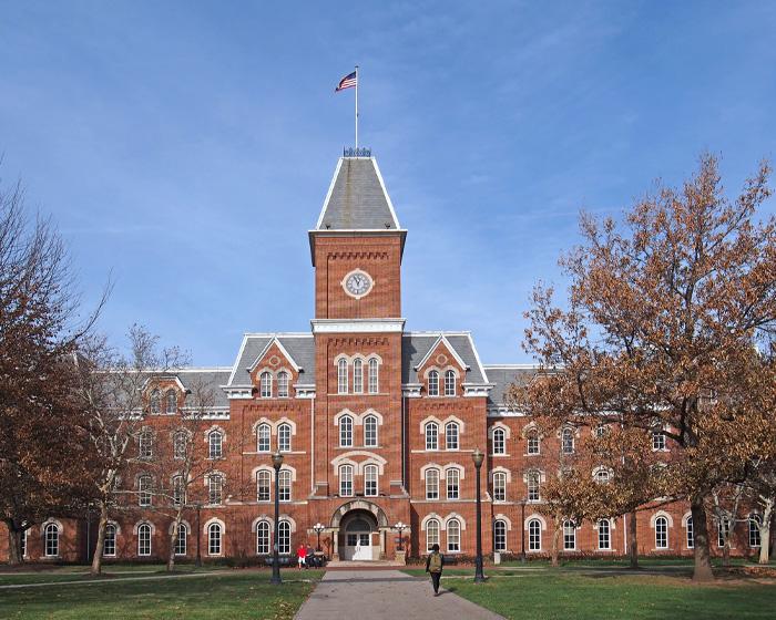 Brick Building On A University Campus