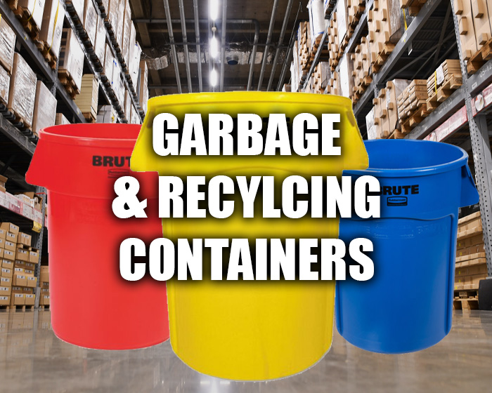 Garbage And Recycling Containers