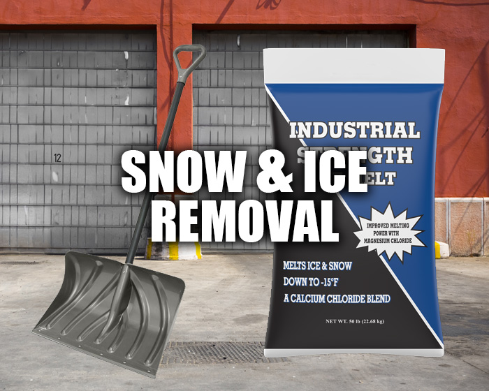 Snow Shovel And Bag Of Ice Melt