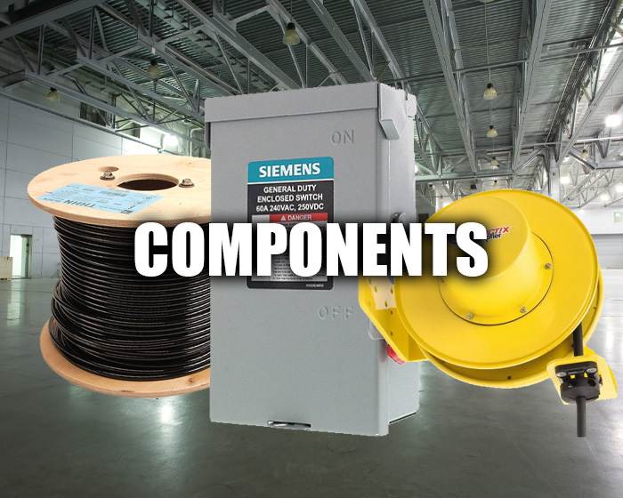 Components, Including A Cord Reel And Cable Reel