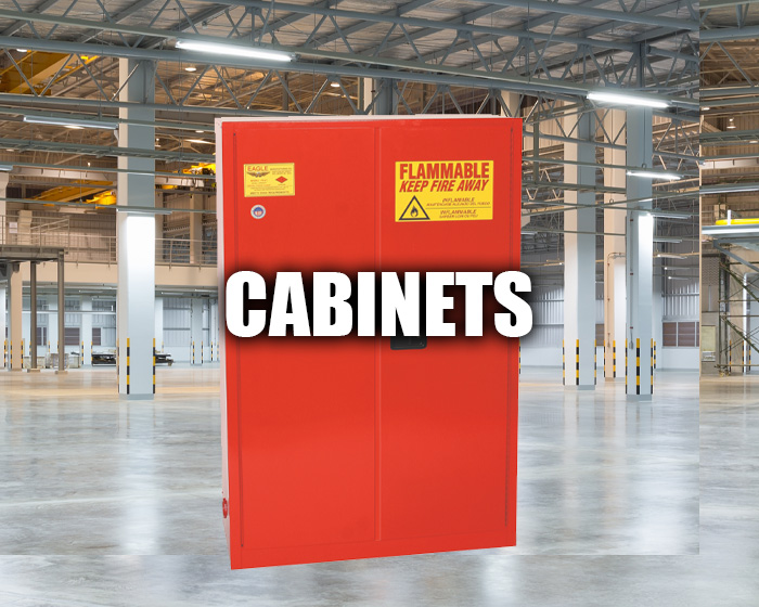 Supply Cabinet In A Warehouse
