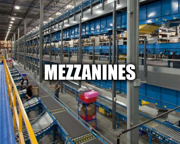 Cogan Mezzanines Installed At A Warehouse