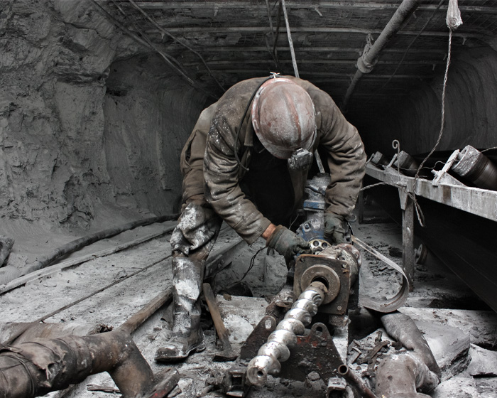 Worker In A Mine