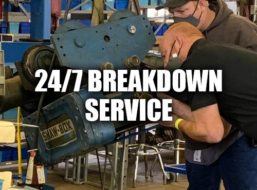 YorkHoist Service Technicians Repairing A Shaw-Box Hoist