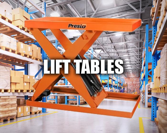 Presto Lift Table In A Warehouse