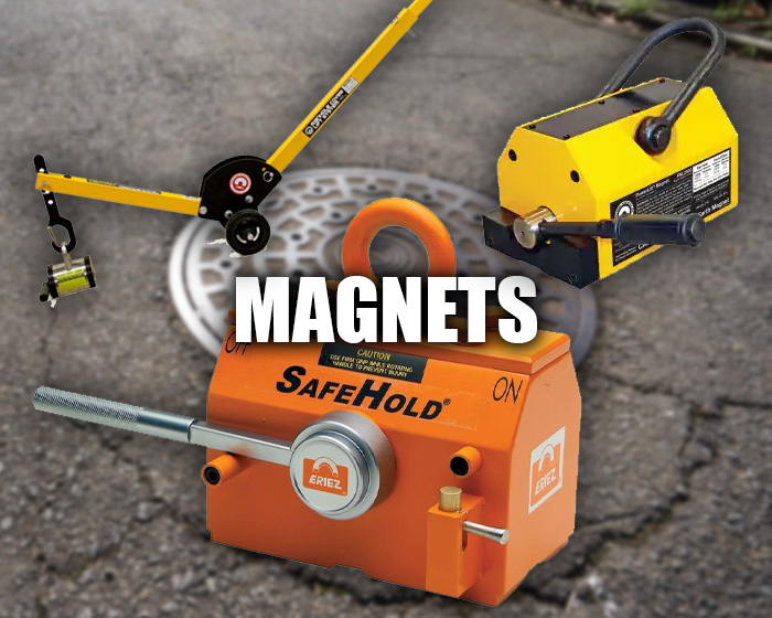 Various Kinds Of Magnets, Including A Manhole & Septic Cover Magnet