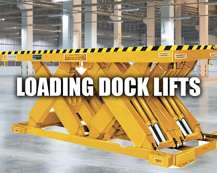 Yellow Loading Dock Lift