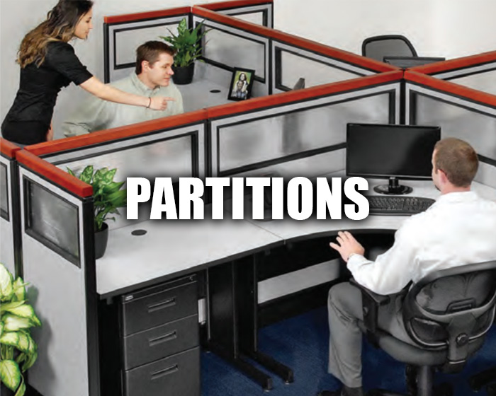 Desk Partitions In An Office Setting
