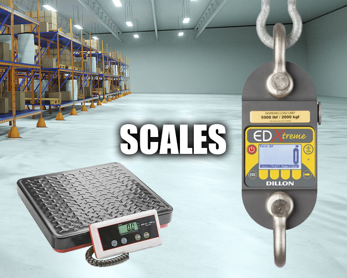 Industrial Scales In A Warehouse Setting