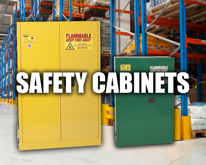 Safety Cabinets In A Warehouse Setting