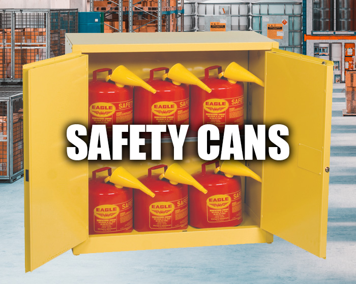 Safety Cans In A Warehouse Setting