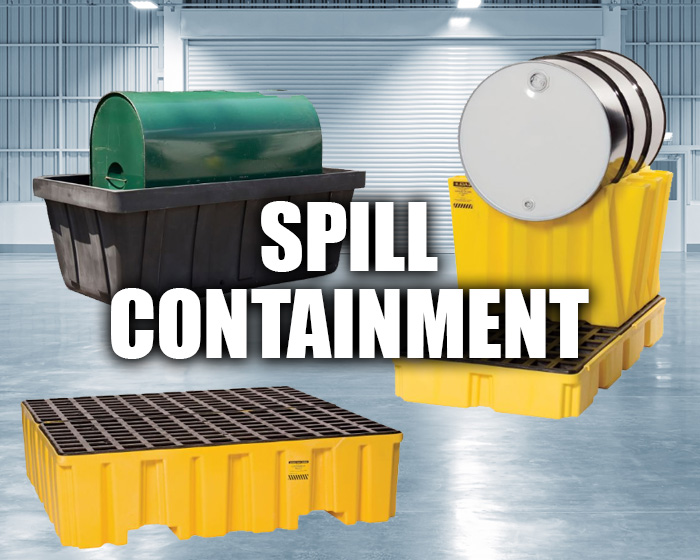 Spill Protection Equipment In An Industrial Setting