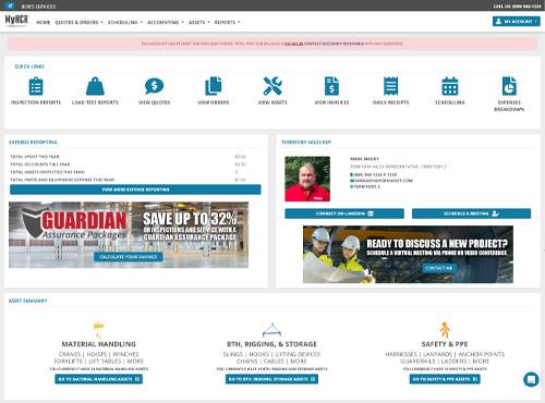 Screenshot Of The Myhcr Customer Dashboard