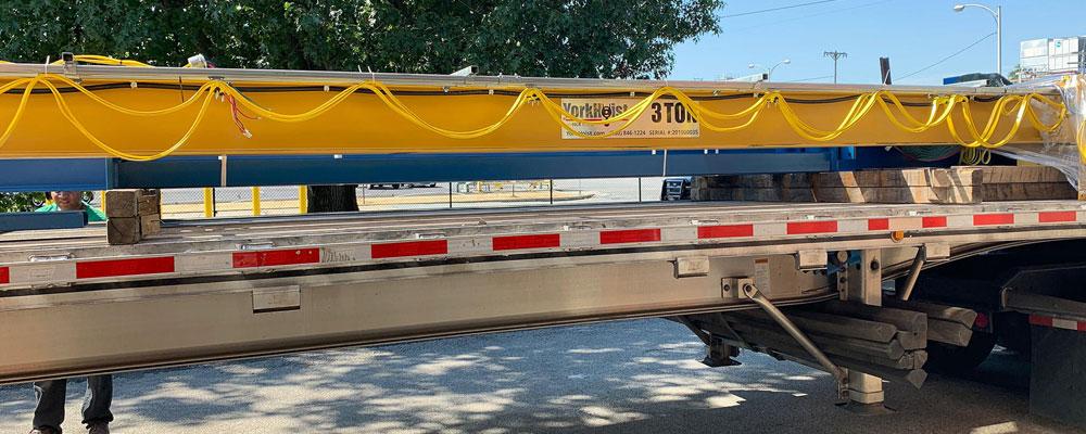 Truck Carrying A Yorkhoist Manufactured Crane