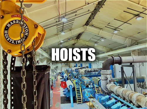 Harrington Hoist Manual Chain Hoist Installed At A Customer Facility