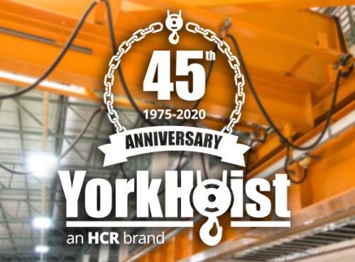 YorkHoist 45th Anniversary Logo