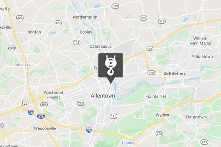 Allentown Location Map