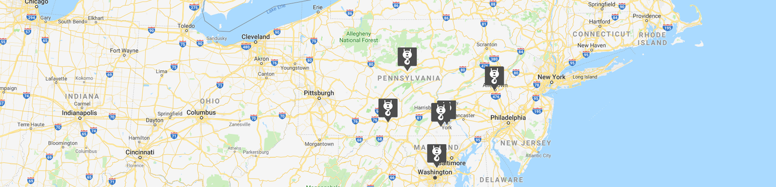 Map Of All Yorkhoist Locations