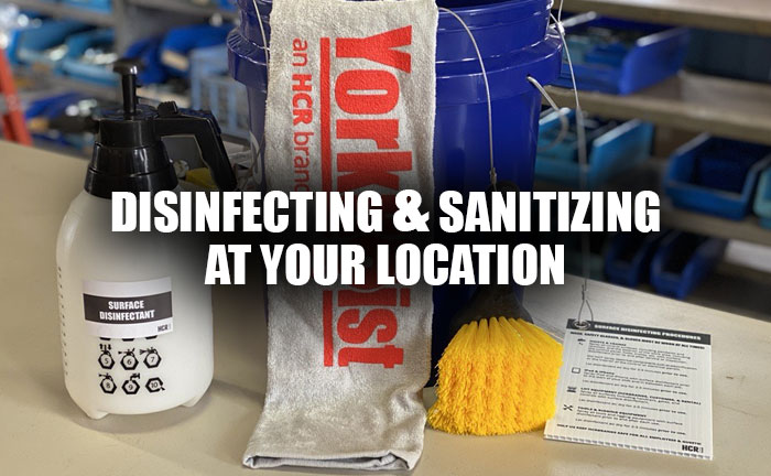 Yorkhoist Disinfecting Supplies