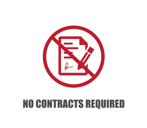 no contacts required